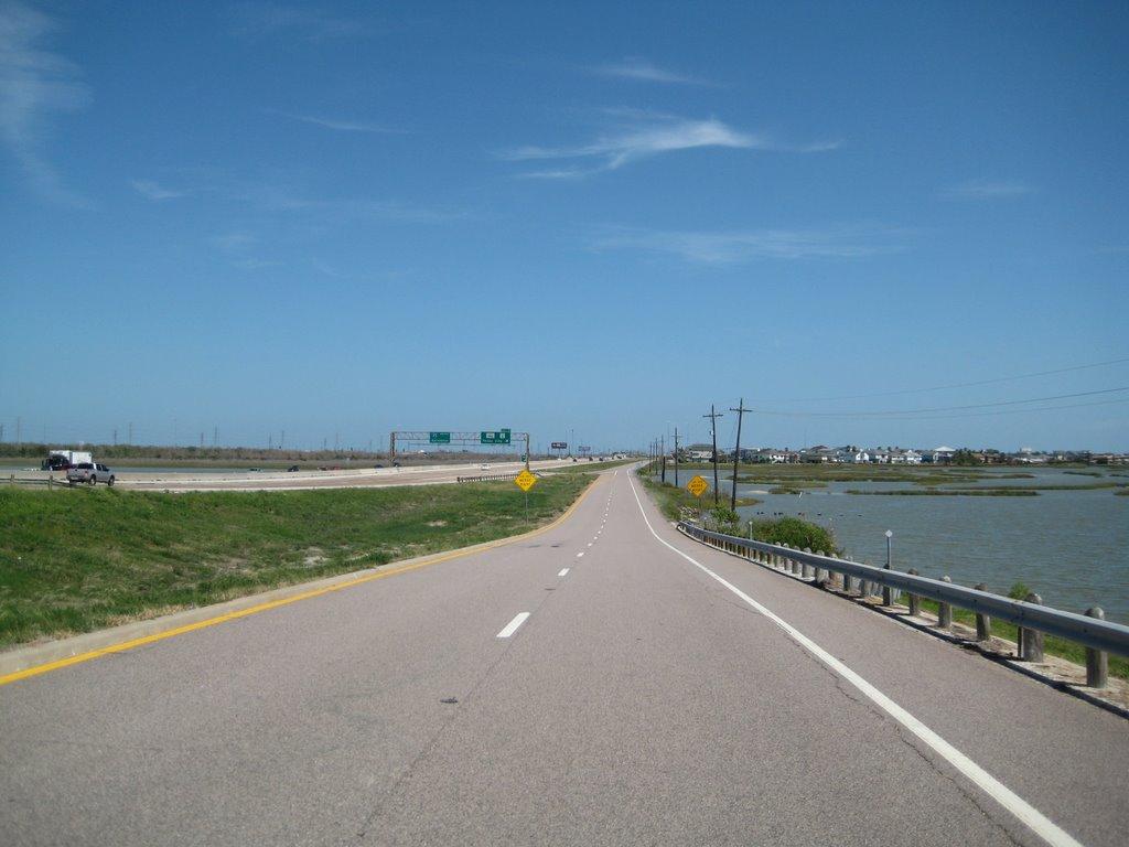 I-45 South South toward Galveston, TX, Худсон