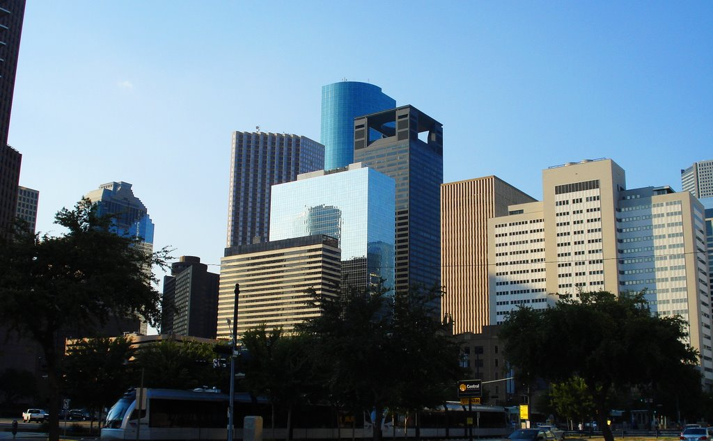 Summer afternoon, Downtown Houston, Хьюстон