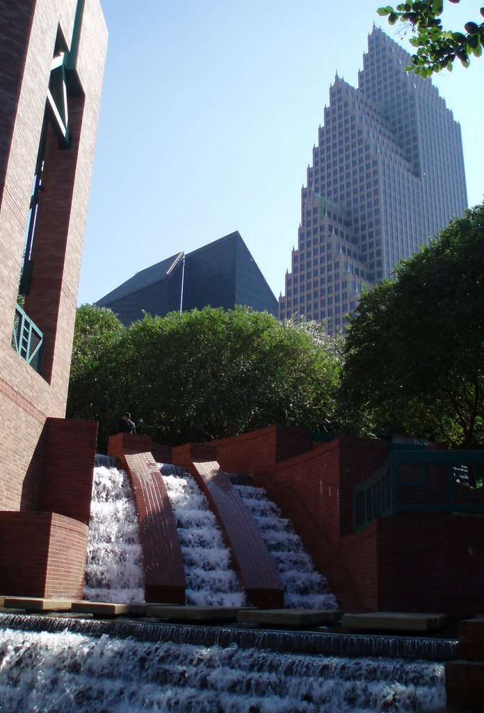 Bank of America Center from Wortham Theatre, Хьюстон