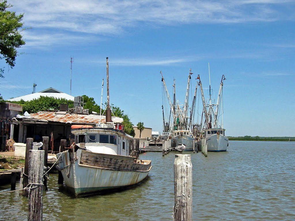 Shrimp and Fishing Boats in Apalachicola, Апалачикола