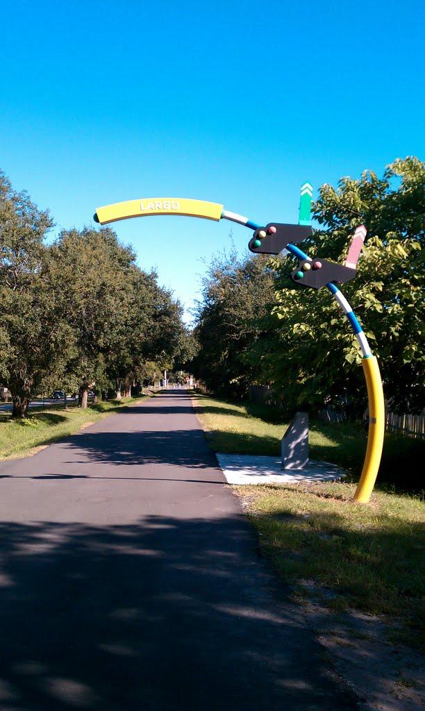 Largo marker on Fred Marquis Pinellas Trail., Ларго