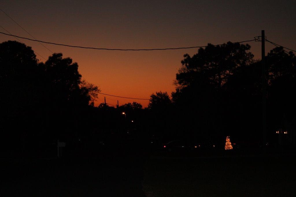 winter sunset, Лаудерхилл