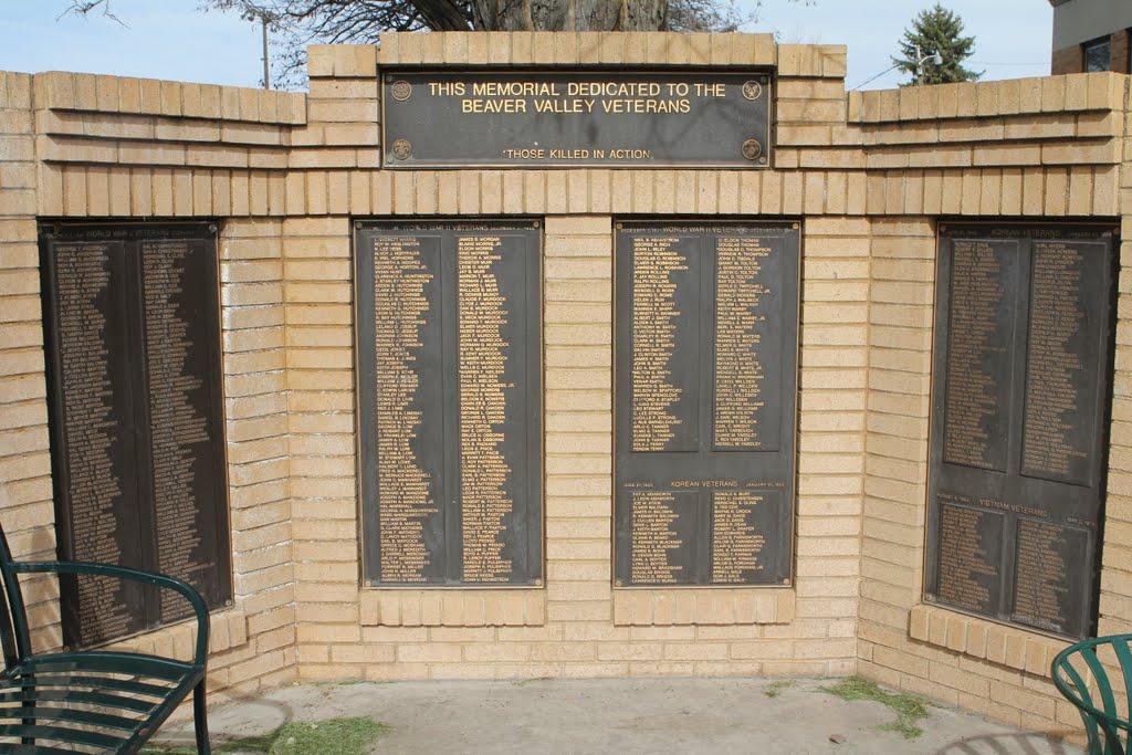 Monumento a los muertos por la patria en Beaver, Бивер