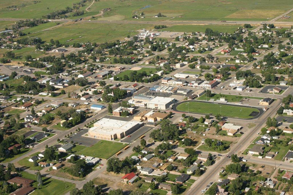 Down Town Beaver, Utah  from the air #2, Бивер