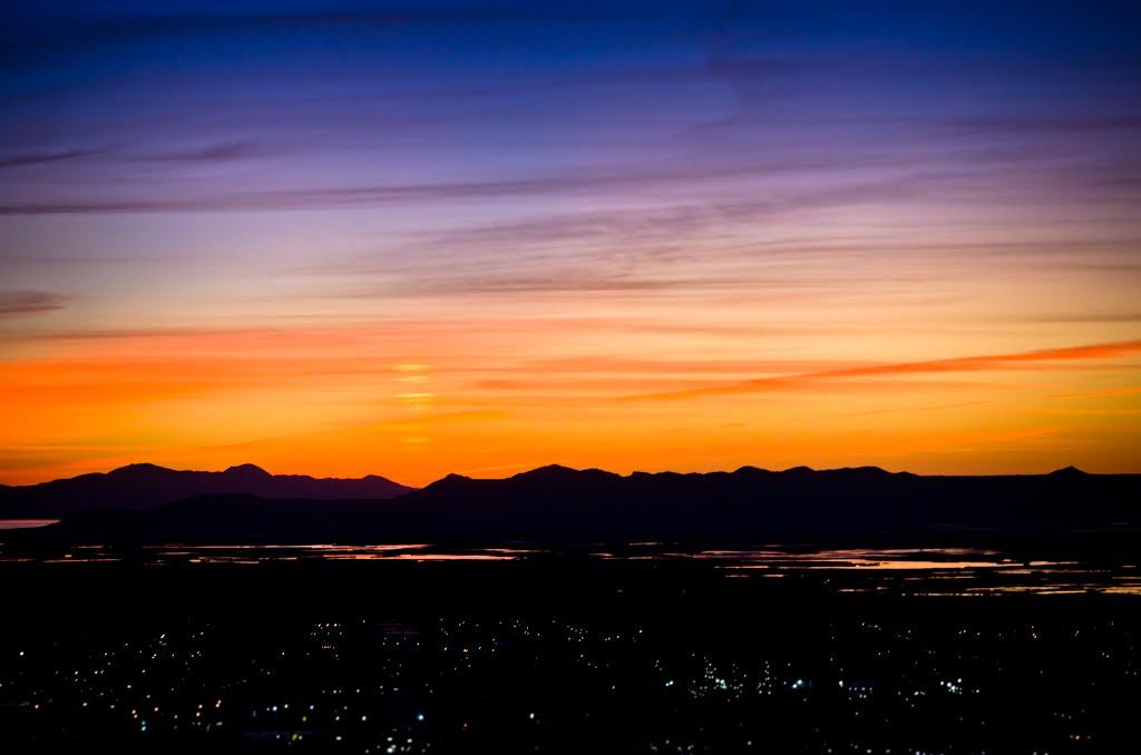 Sunset over Salt Lake from Bountiful, Боунтифул