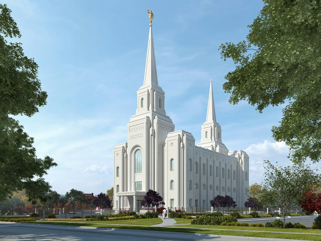 Architectual Rendering of Brigham City Temple of Church of Jesus Christ of Latter Day Saints, Бригам-Сити