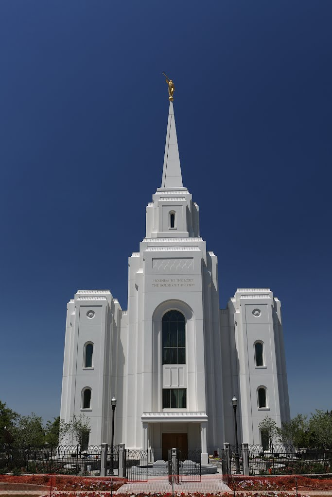 Brigham City LDS Temple front view, Бригам-Сити