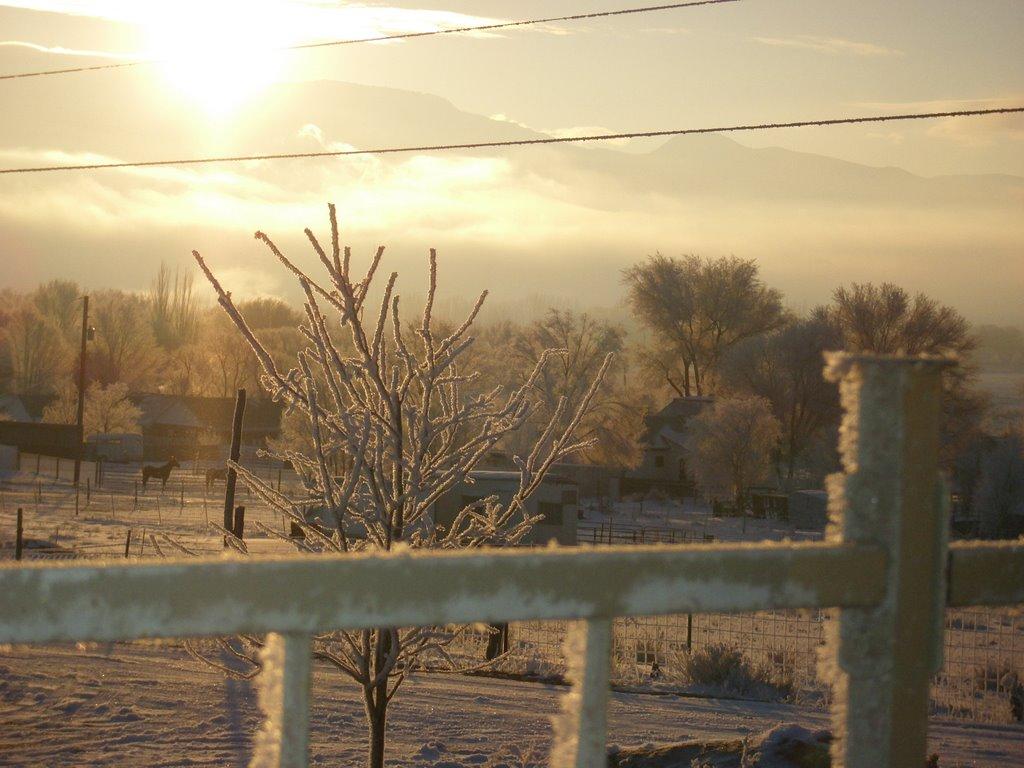 Cold winter morning, Ганнисон