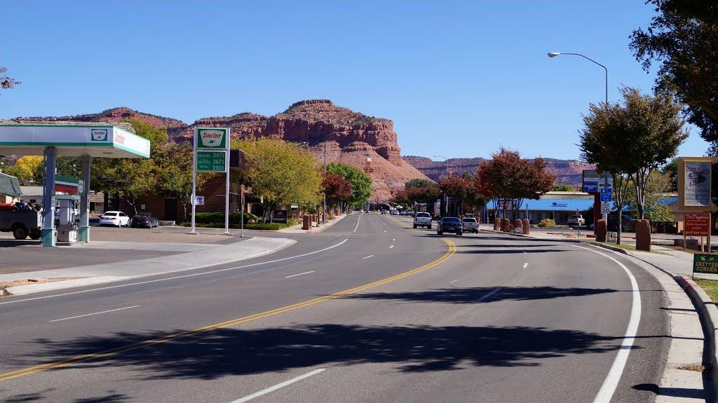 Main street in Kanab, Utah,, Канаб