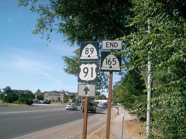 Erroneous UT-89 Sign at UT-165, Логан