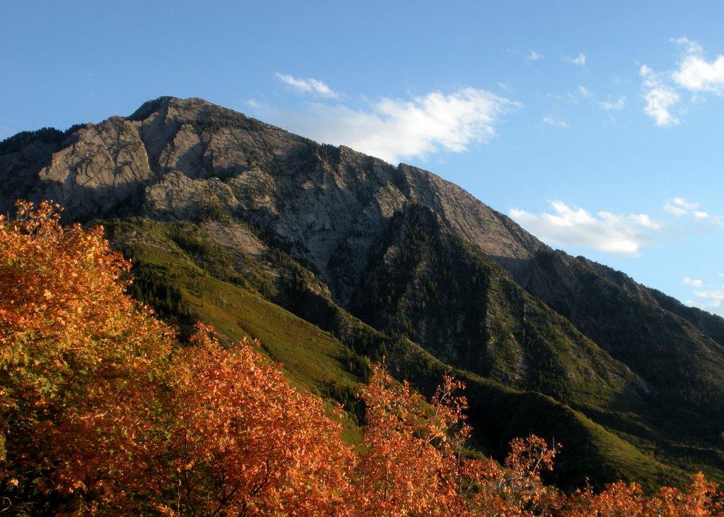 Mount Olympus from Neffs Canyon Ridge. Wasatch Mountains, Utah., Маунт-Олимпус