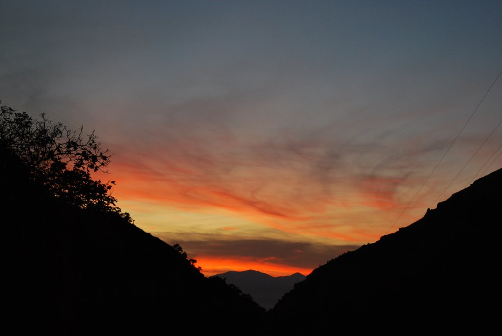 Sunset looking out of Mill Creek Canyon., Маунт-Олимпус