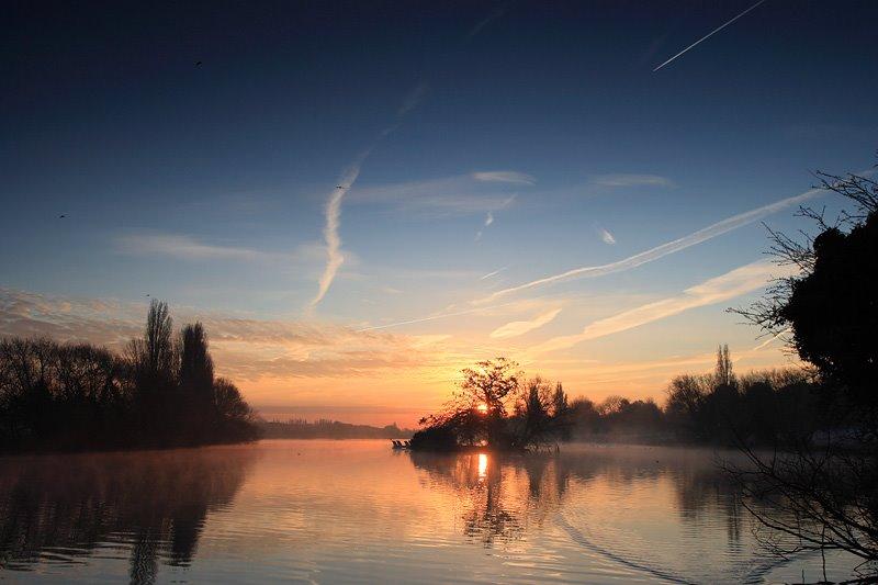 Danson Lake sunrise, Бексли