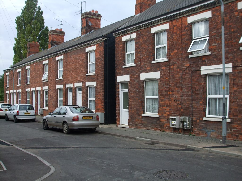 Typical street in Boston Lincolnshire, Бостон