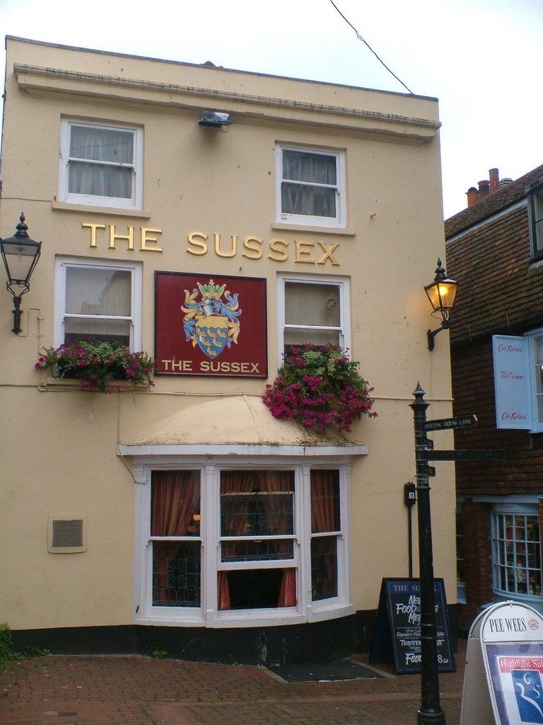 back of The Sussex bar, Брайтон