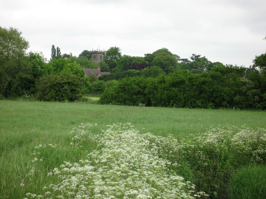 Church of St.Botolph at Sibson from near Eightlands Farm, Валсалл