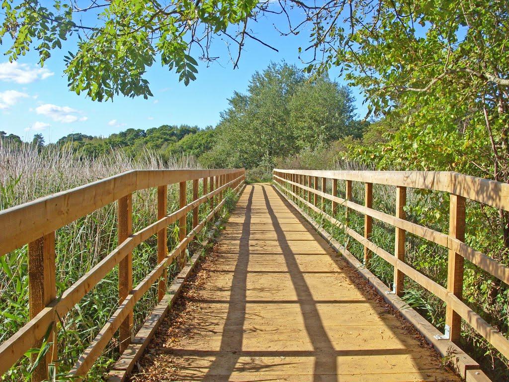 The bridge to Upton Country Park, Ватерлоо