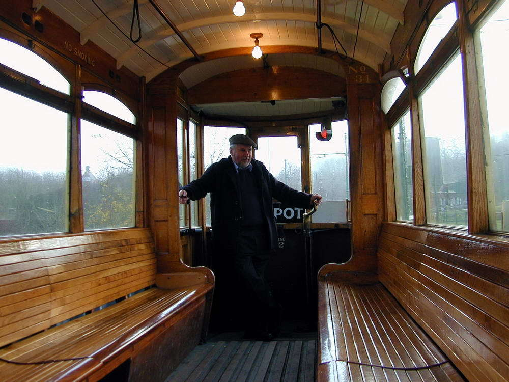 Inside the tram at the Black Country Museum, Дадли