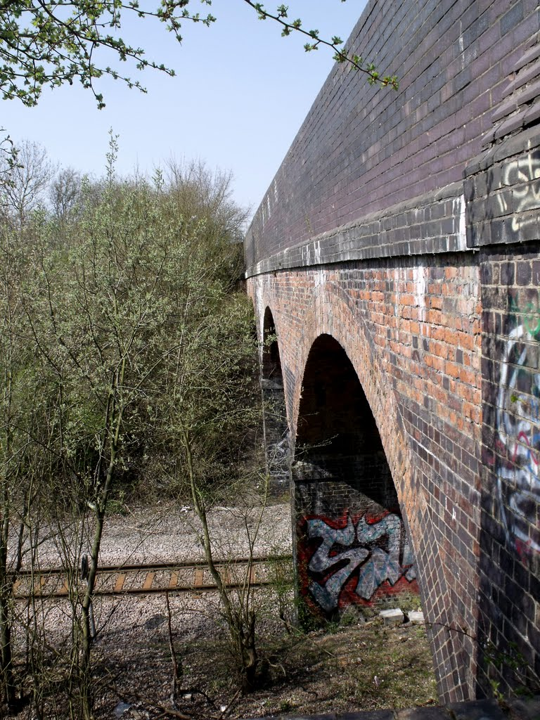 Footbrige over Corby railway line, Корби