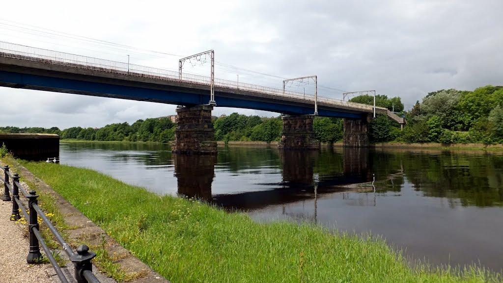 Railway bridge over River Lune, Ланкастер