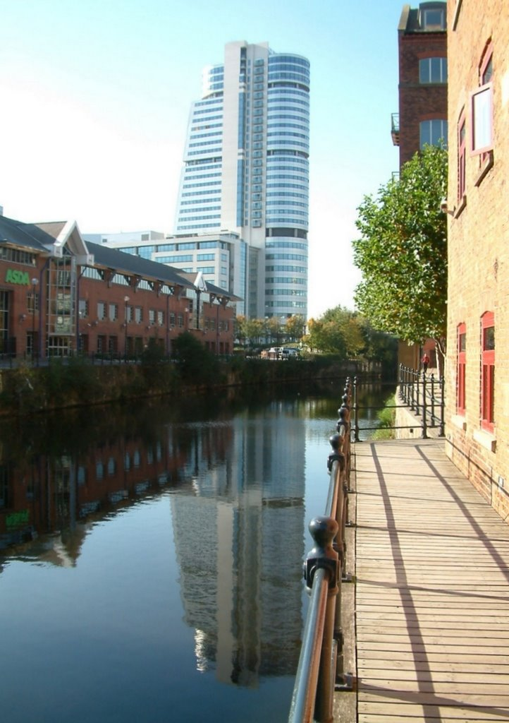 Bridgewater Place from River Aire, Лидс