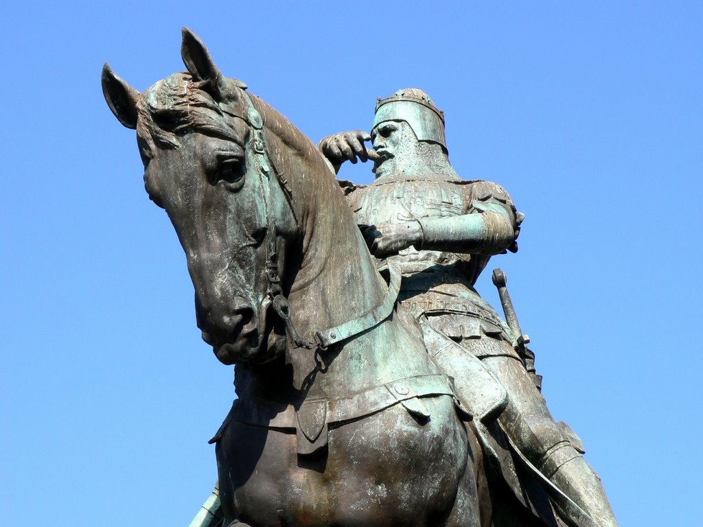 The Black Prince Statue in City Square, Leeds, UK., Лидс