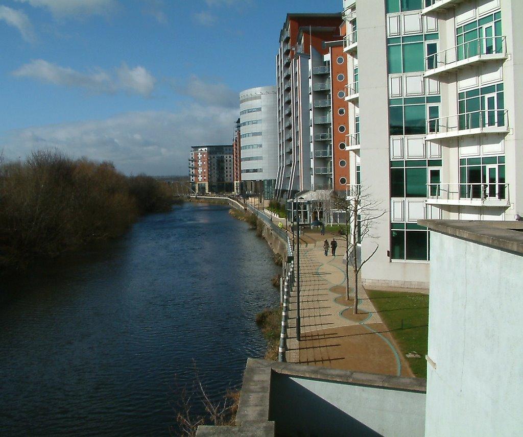 Leeds Aireside west of railway station, Лидс