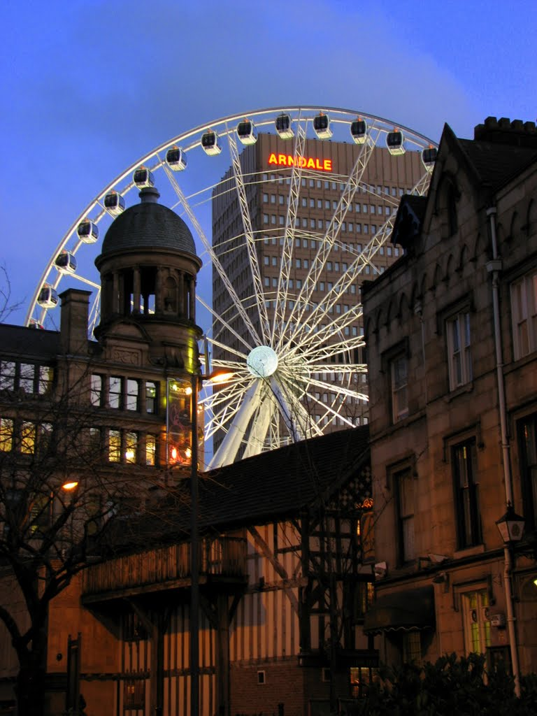MANCHESTER (GB): Manchester Wheel, Arndale and Triangle., Манчестер
