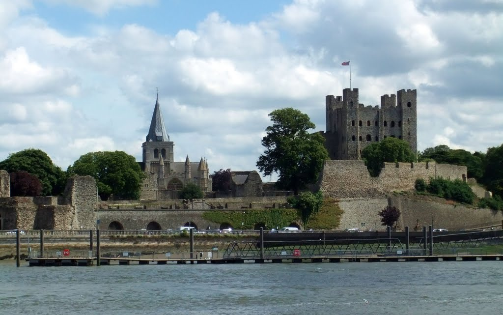 Rochester Castle & Cathedral, Rochester, Kent, UK., Рочестер