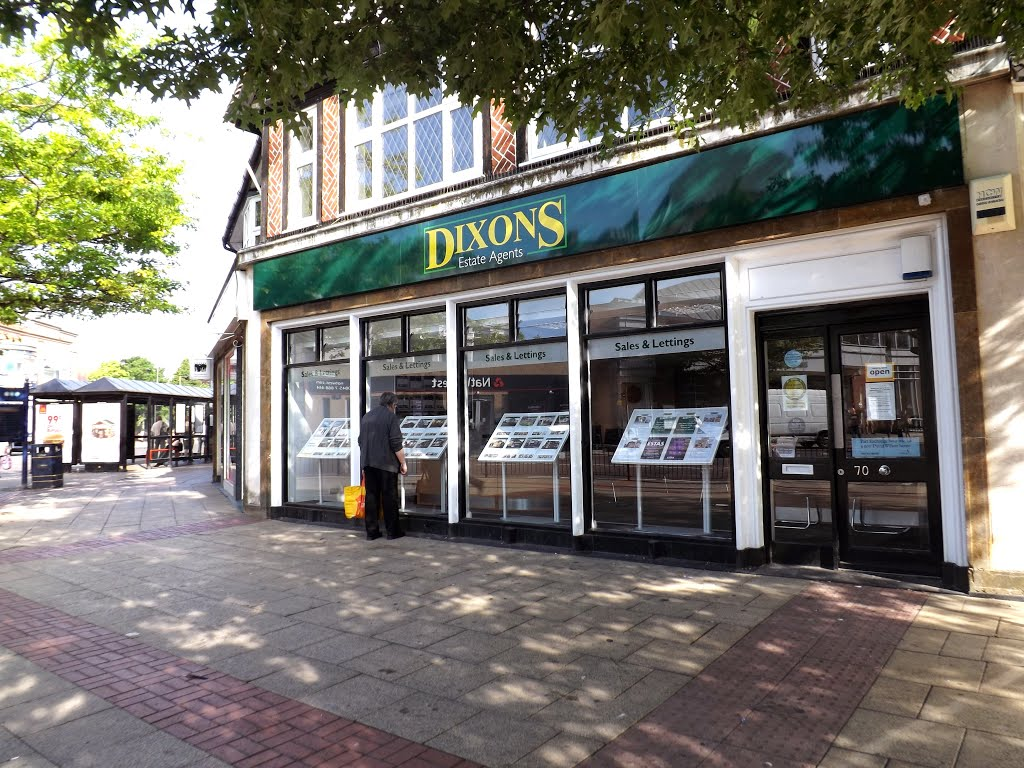 Street view of Dixons Lettings property management on 70 Poplar Road in Solihull, Солихалл