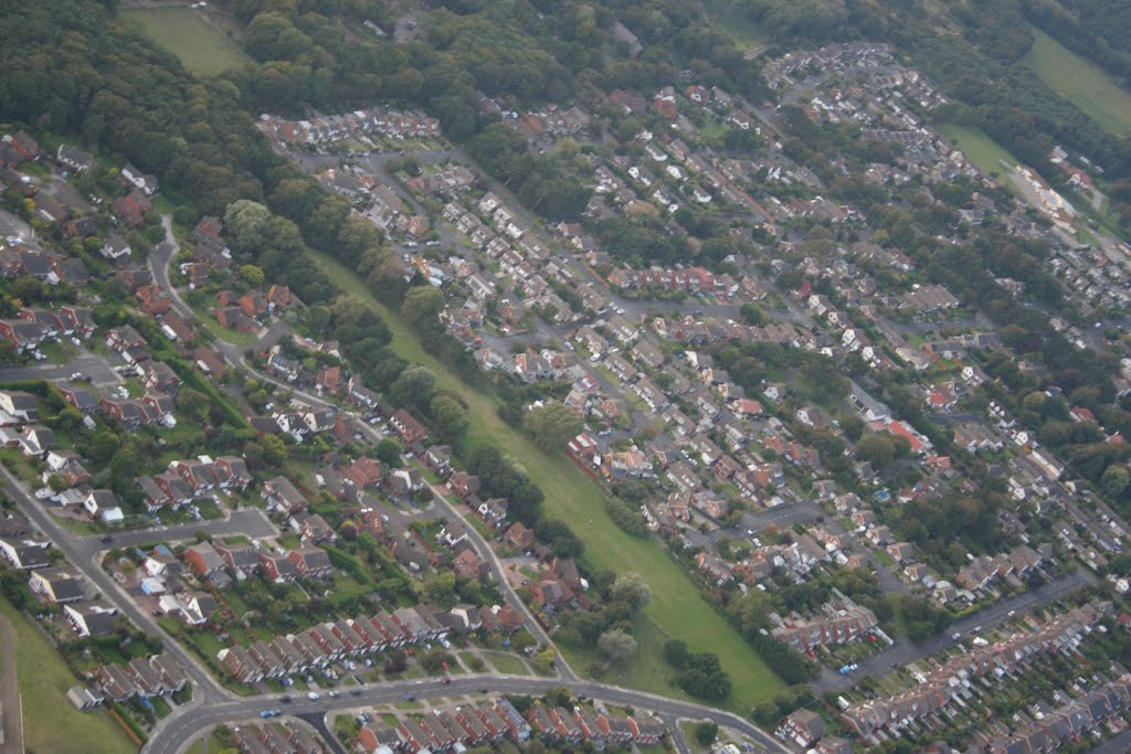 View Over Formby From Microlight., Формби