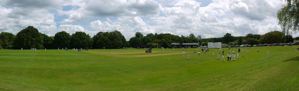 Harpenden Common; cricket practice, Харпенден