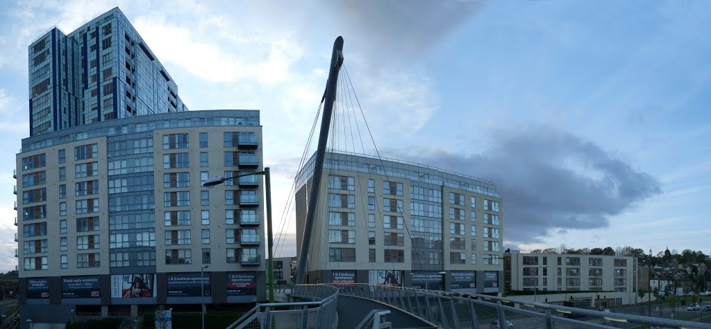 Kodak building development from footbridge (November 2013), Хемел-Хемпстед