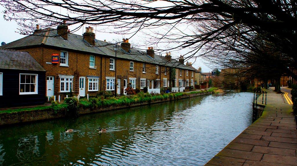 View from Bircherley street - Hertford, Хертфорд