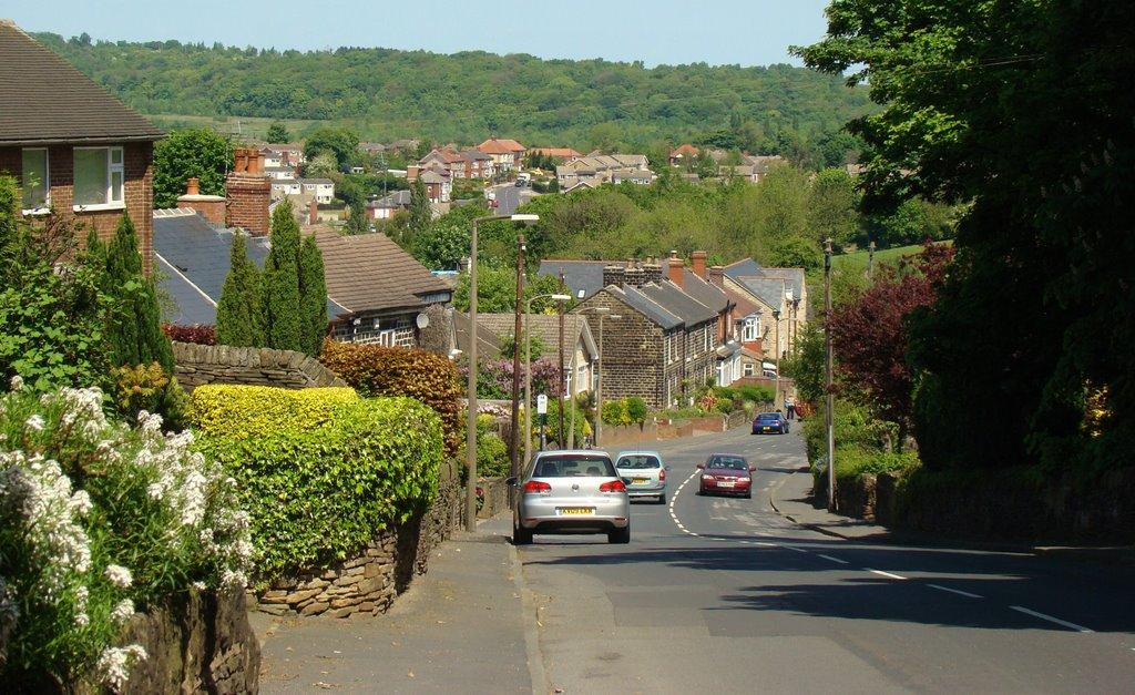 Looking down Bracken Hill, Burncross, Sheffield S35, Чапелтаун