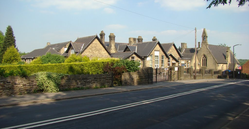 Panorama of Lound Side looking towards Lound junior school, Chapeltown, Sheffield S35, Чапелтаун