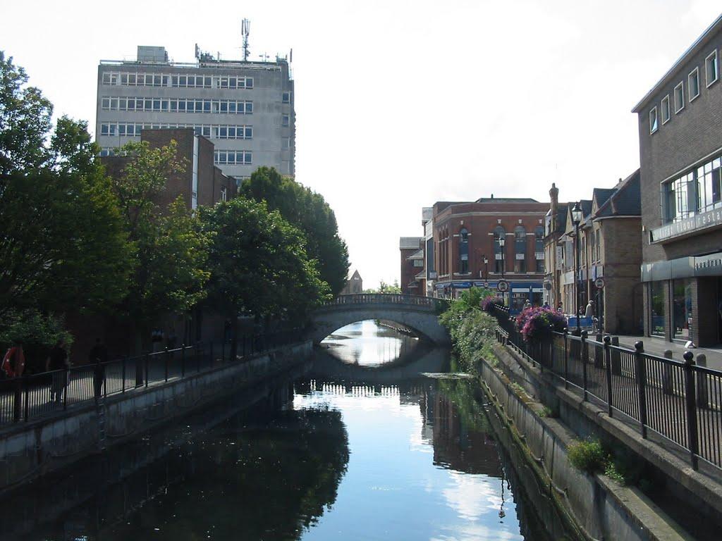 View from Barrack Square Bridge, Челмсфорд