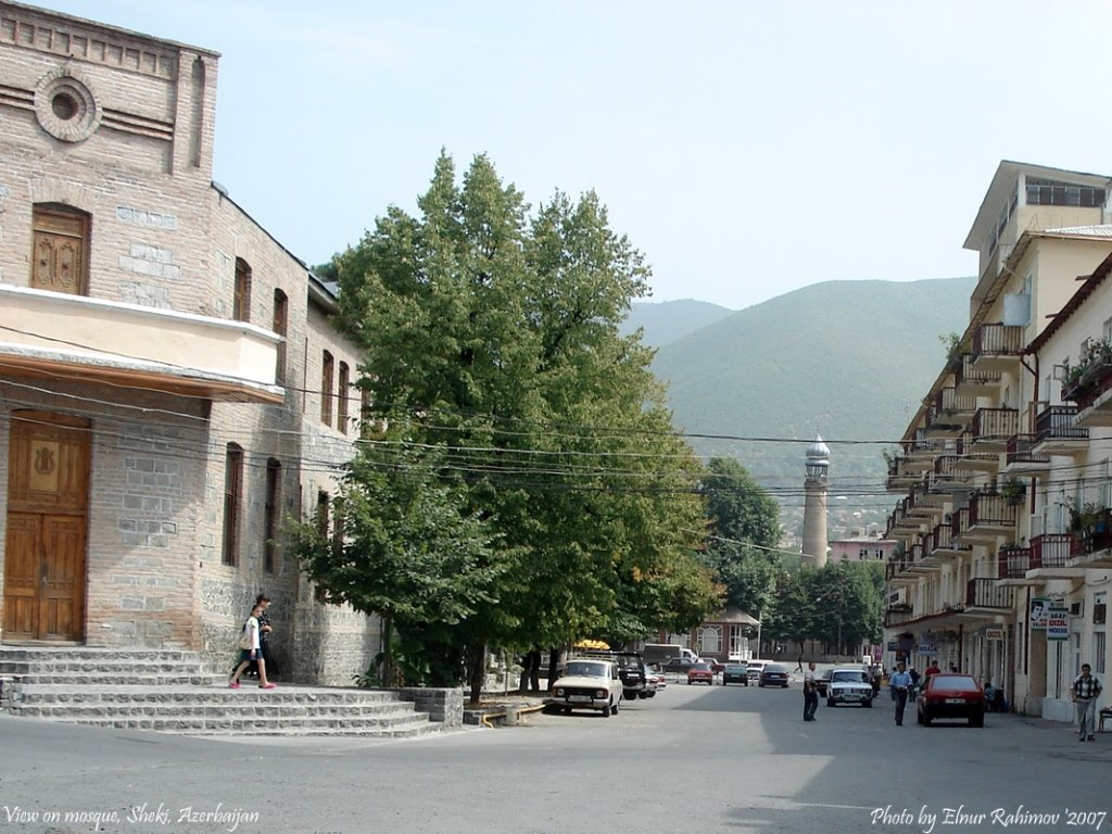 View to Mosque, Sheki, Бирмай