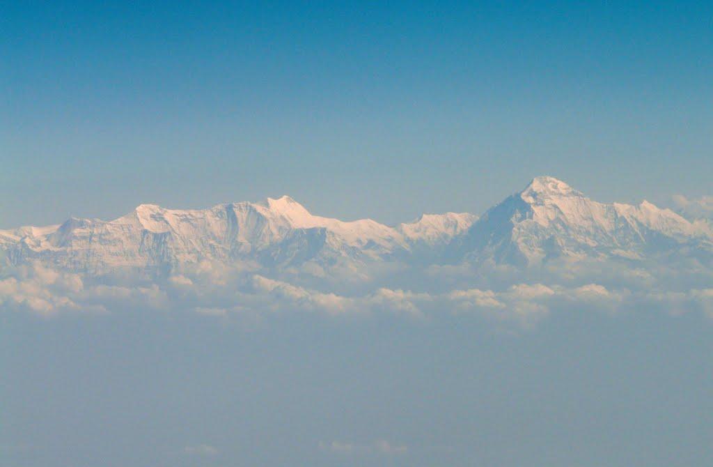 Flight to Kathmandu - view of the Himalaya, Кара-Кала