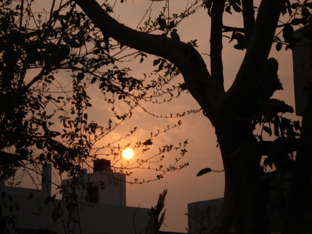 Valentine sun setting view, Кара-Кала