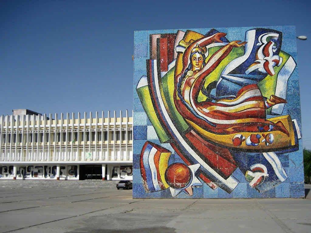 Soviet-era Ceramic Mural, Мары