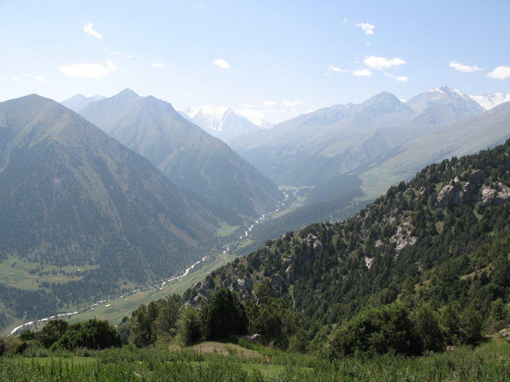 Djindy-Bel Pass, view to Akart, Алтынкуль