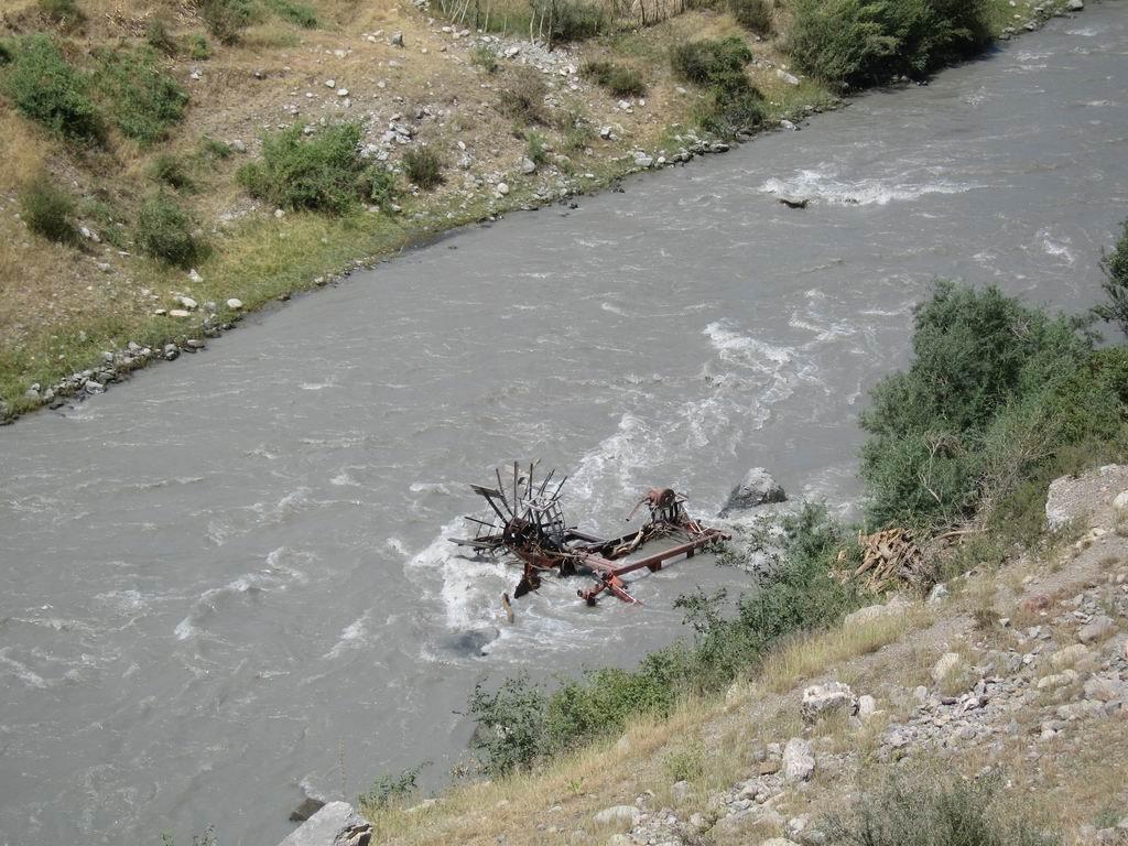 Destroyed water wings, Алтынкуль