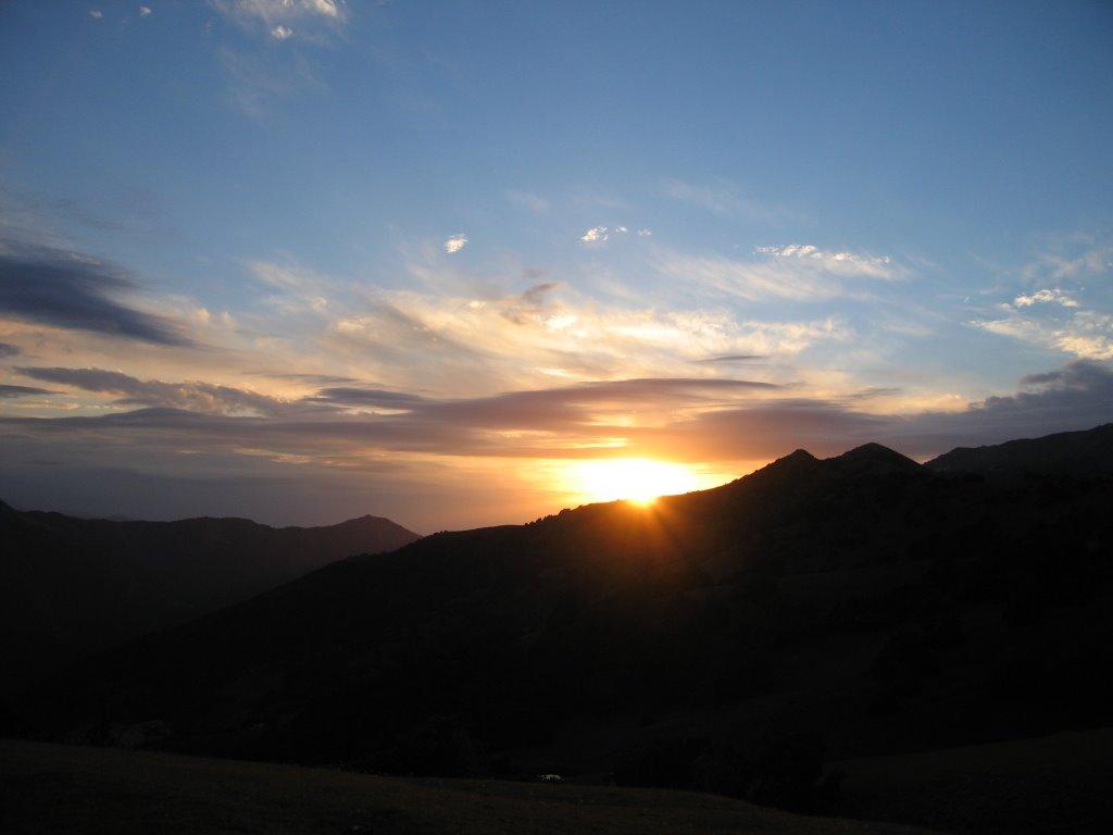 Pum, Aktash Pass, sunset, Алтынкуль