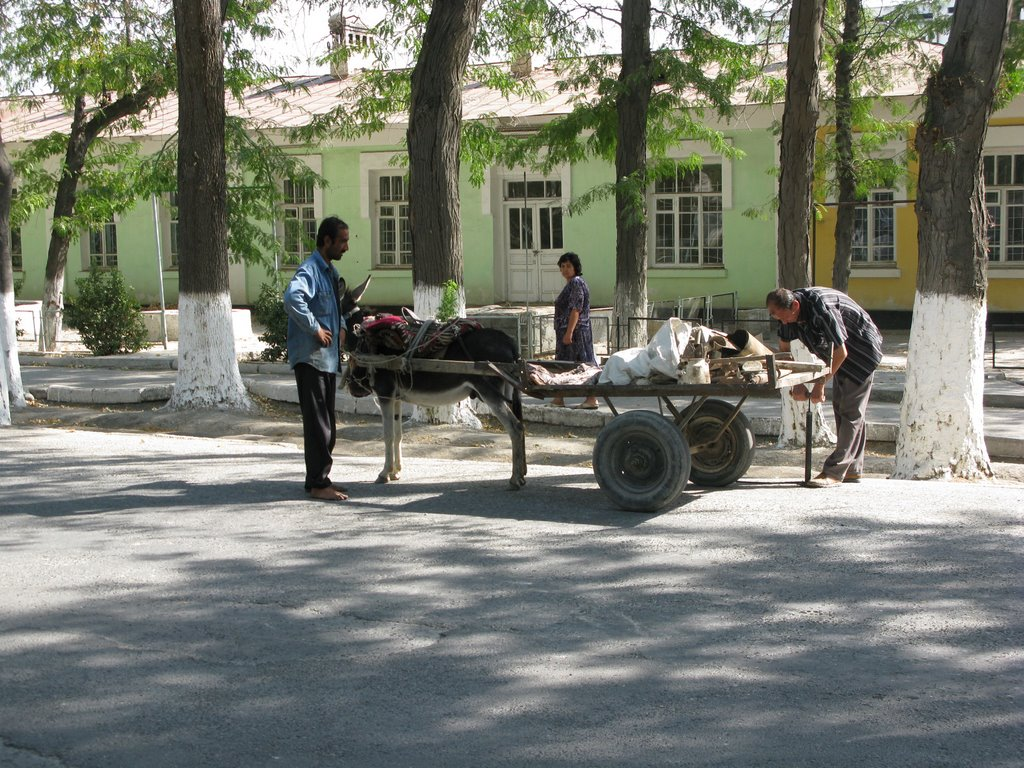 Fergana, street, road breakdown, Балыкчи