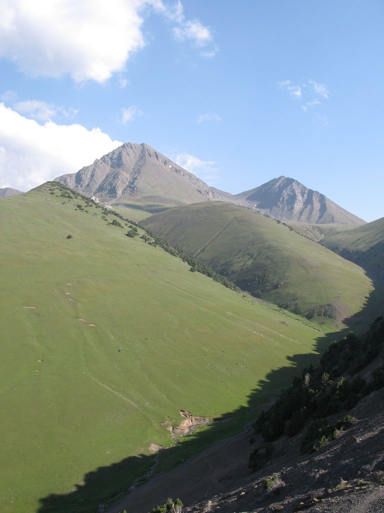 Kum-Bel Pass (Malyaran-Djash), view to Djash, Балыкчи