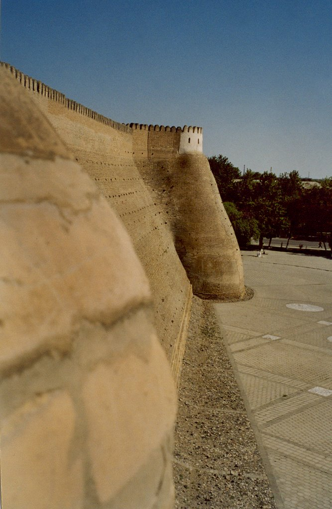 Wall of Ark fortress in Bukhara, Бухара