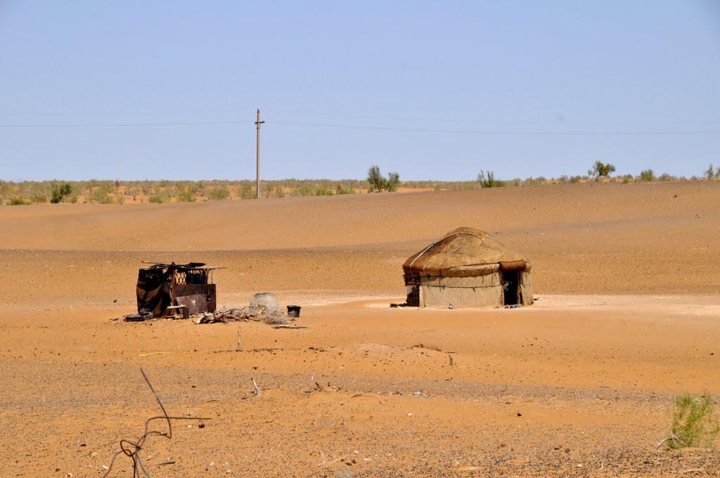The Kyzyl Kum, the 11th largest desert in the world in Uzbekistan., Газли