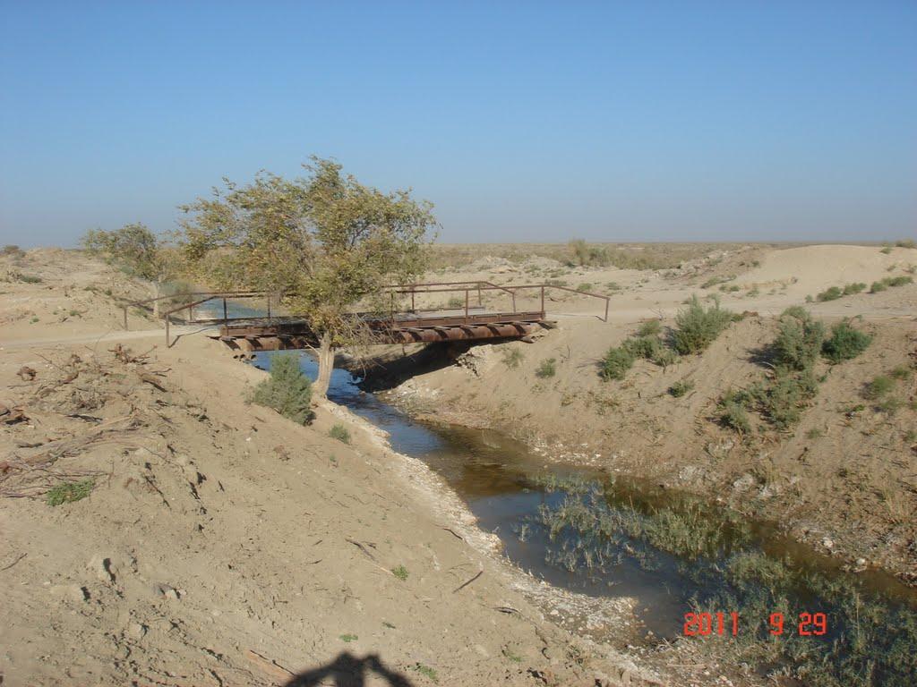 железный мост Каракыр, Газли