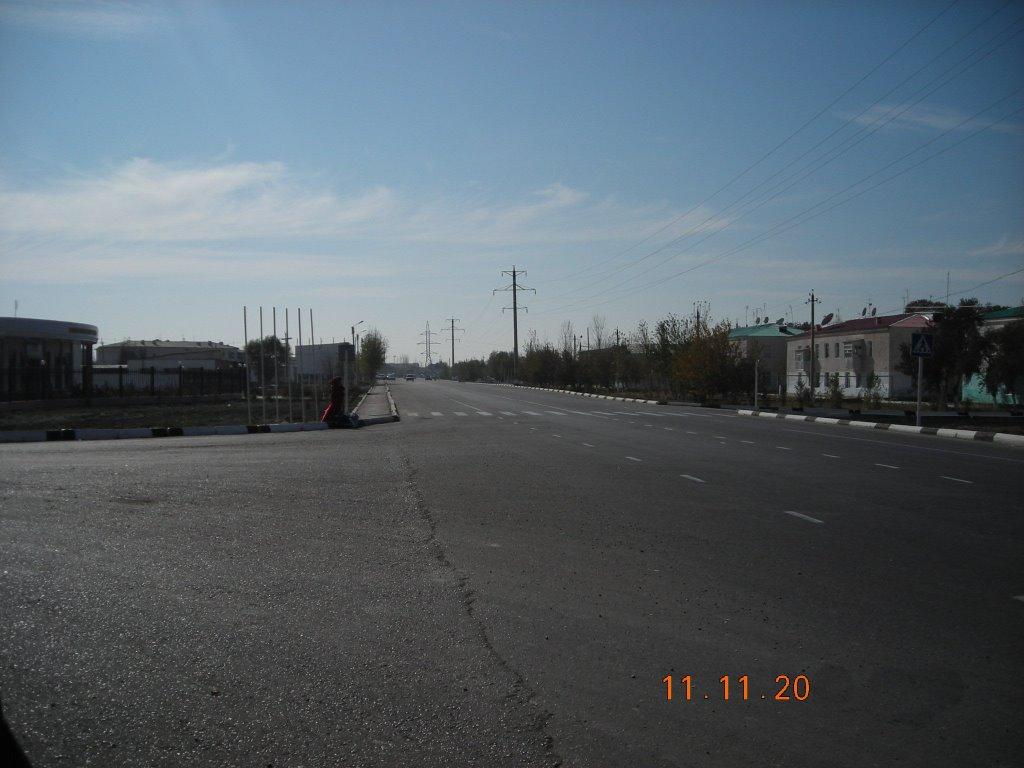 Поворот на автобазу СУ-9, Каган